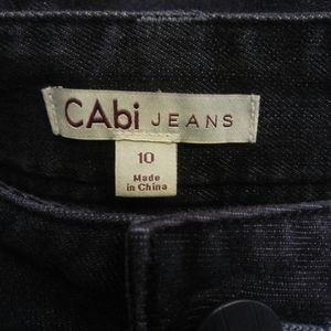 CAbi Black Mid-rise Flared Stretch Jeans, 10